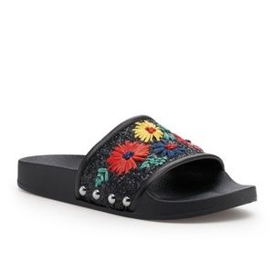 BOTKIER Daisy Bright Floral Embellished Sandals
